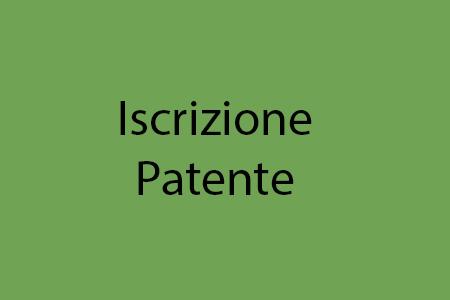 Iscrizione patente