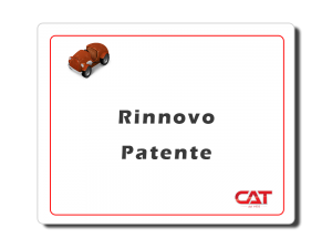 Rinnovo Patente